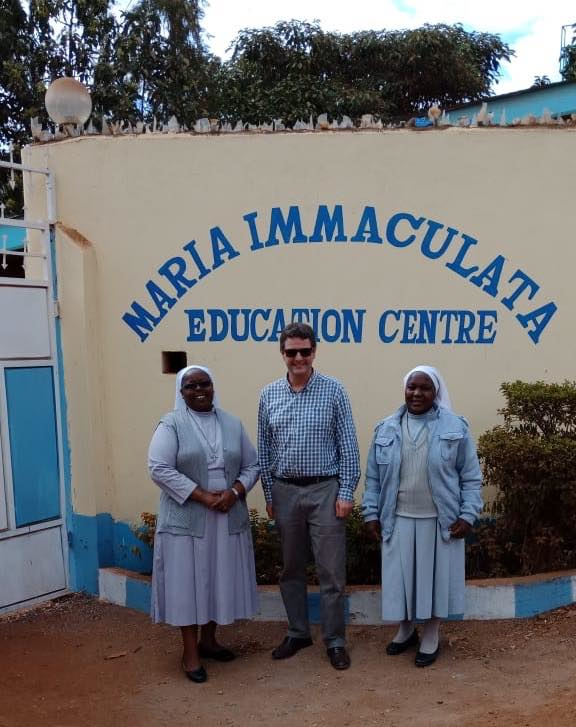 Mr FitzHerbert Birkenhead School visits Maria Immaculata School in Nairobi with Change a Childs Life charity